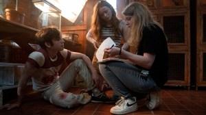 Leigh Janiak on the set of Fear Street