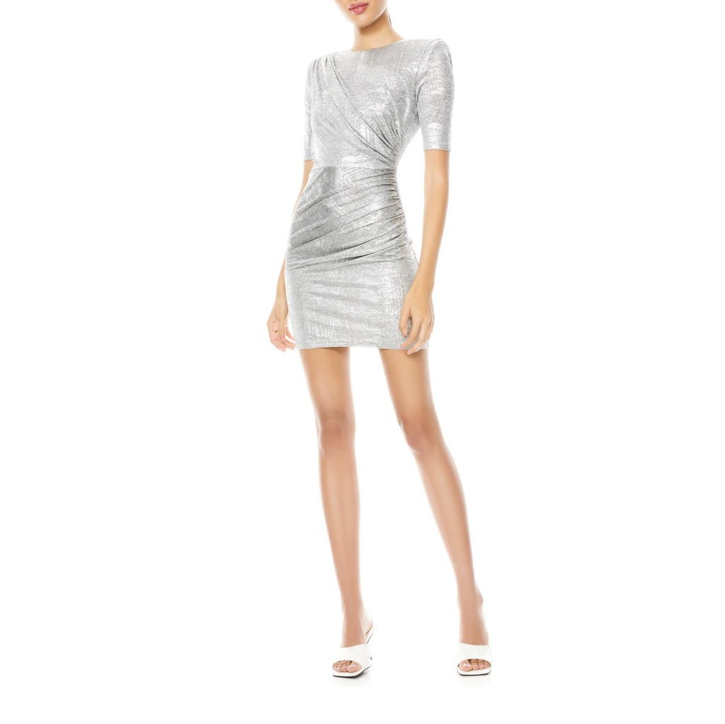 Alice and Olivia Silver Dress