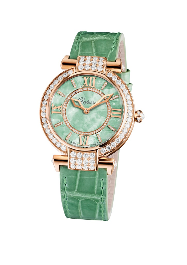 diamond-encrusted Imperiale Joaillerie with mother-of-pearl dial Chopard watch