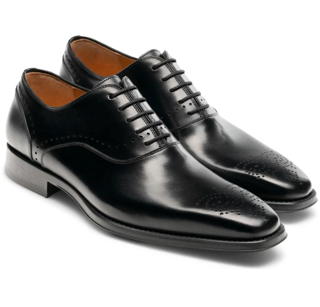 Magnanni Men's Black Leather Dress Shoes