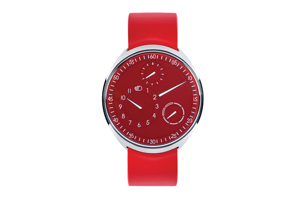 Ressence Watch The Type 1 Slim Red with a 42mm case comes in this hue only in 2021