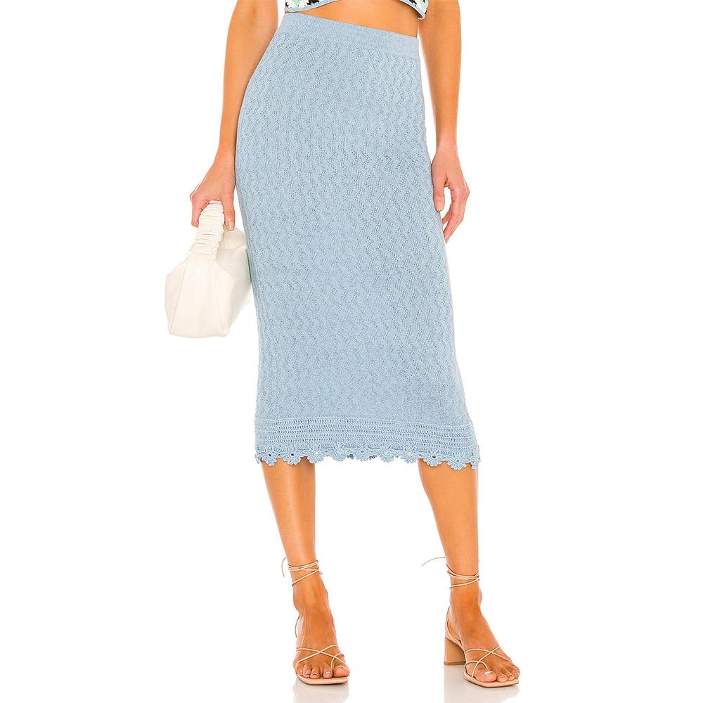 Victor Glemaud Floral Crochet Skirt