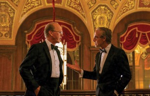 Keaton (left) with Stanley Tucci in the Netflix 9/11 drama Worth, out Sept. 3