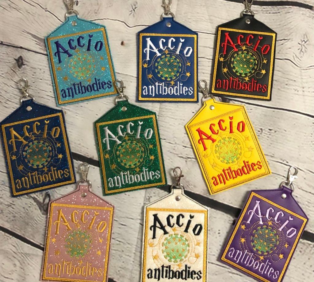 CQNC Handmade Summon Antibodies Vaccine Card Holder