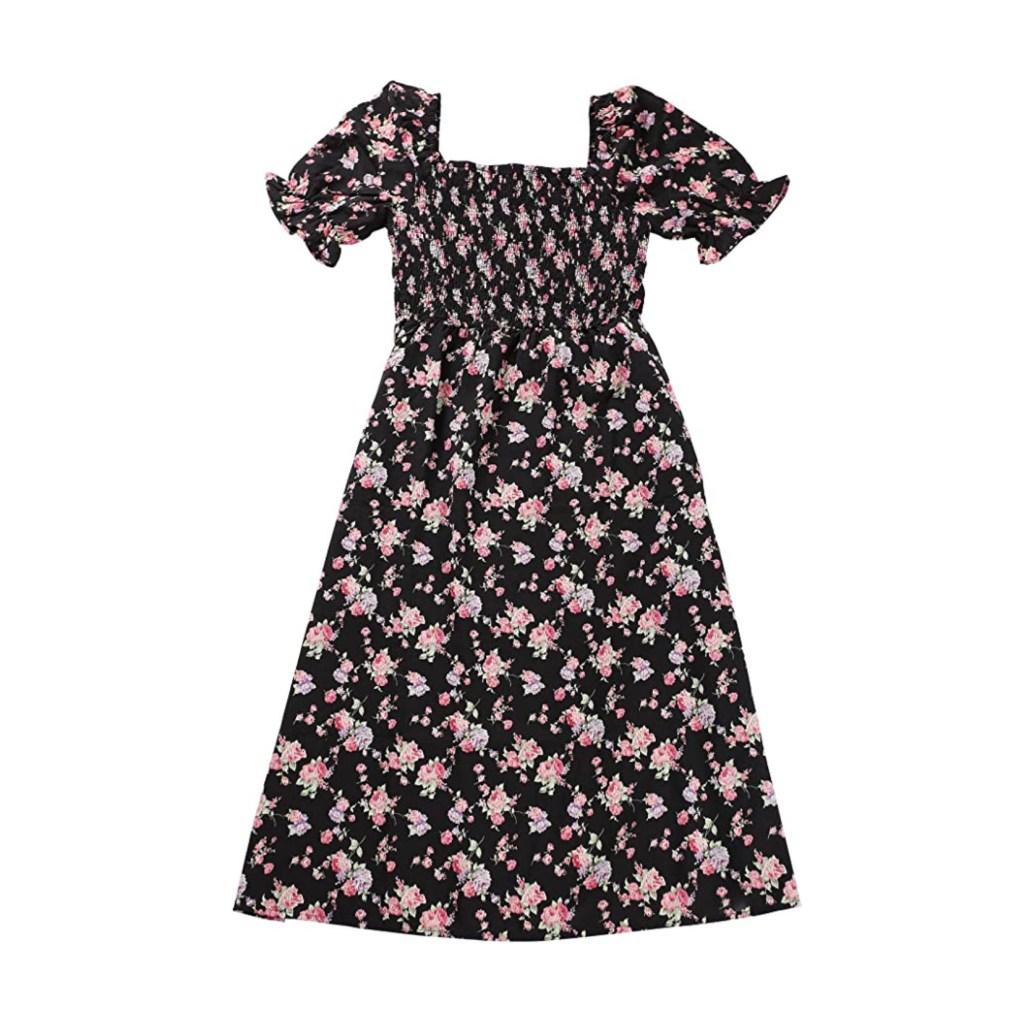 Allegra K Floral Dress