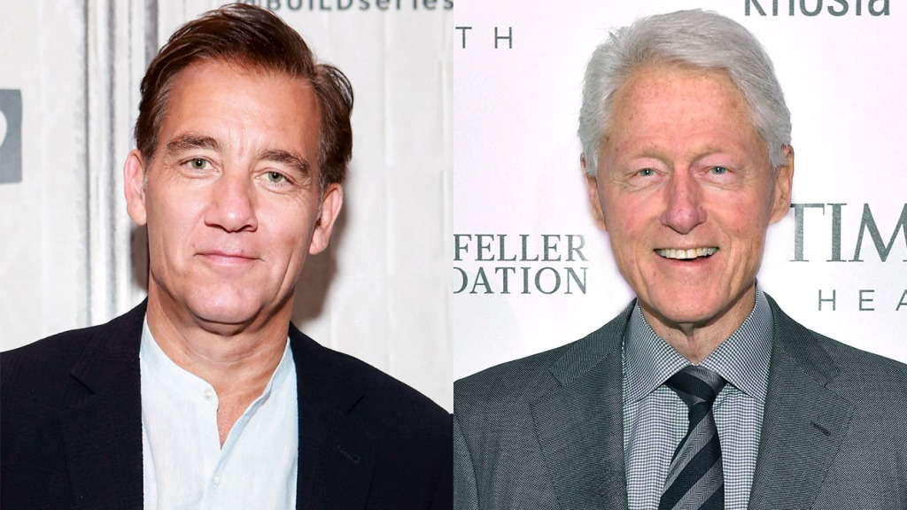 Clive Owen and Bill Clinton