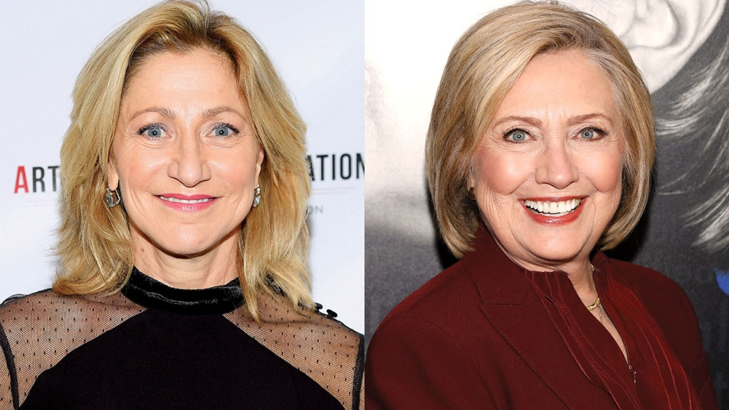 Edie Falco and Hillary Clinton