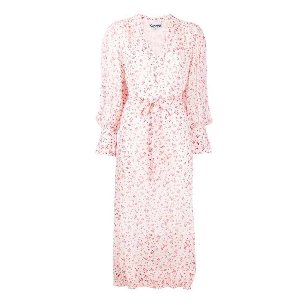 Ganni Floral Print Loose Fit Dress