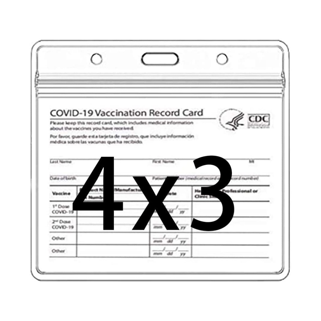 Gurcyter Resealable Vaccination Card Holders