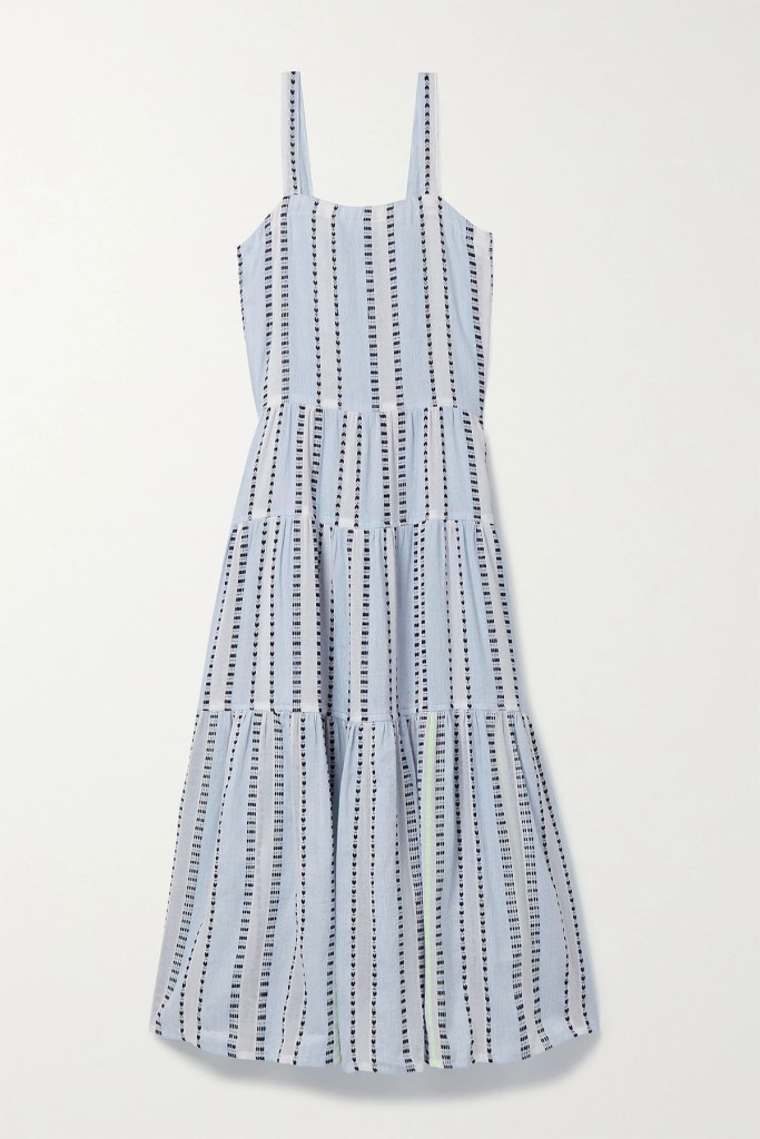 Lemlem Miriam Cascade Striped Cotton Dress