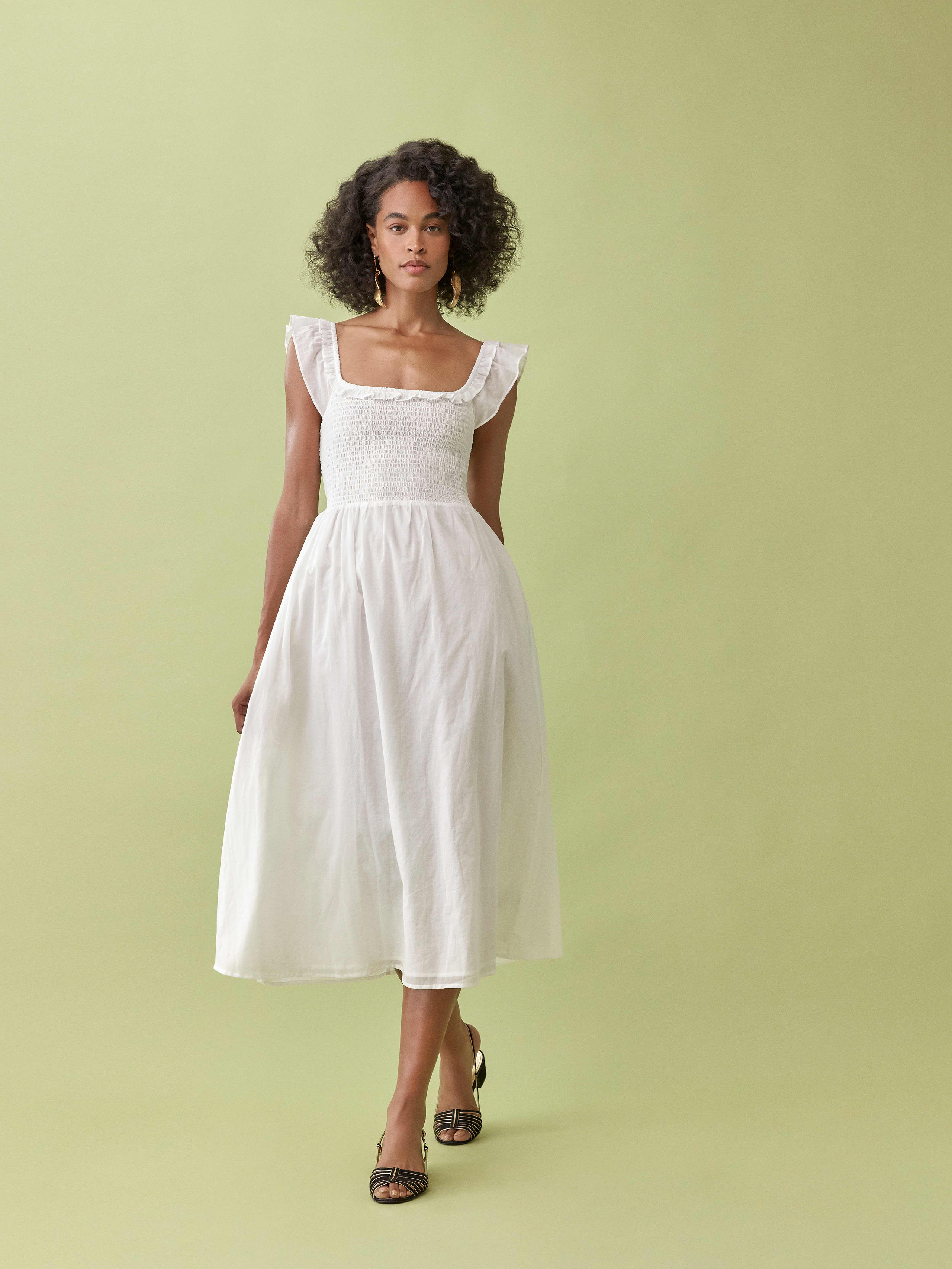 Reformation Ivory Noreen Dress