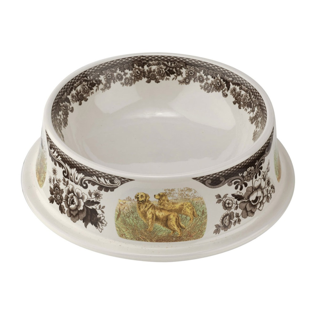 Spode Woodland Dogs Pet Bowl