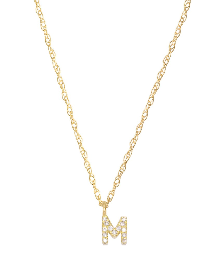 Stone and Strand Fine Diamond Initial Charm Necklace