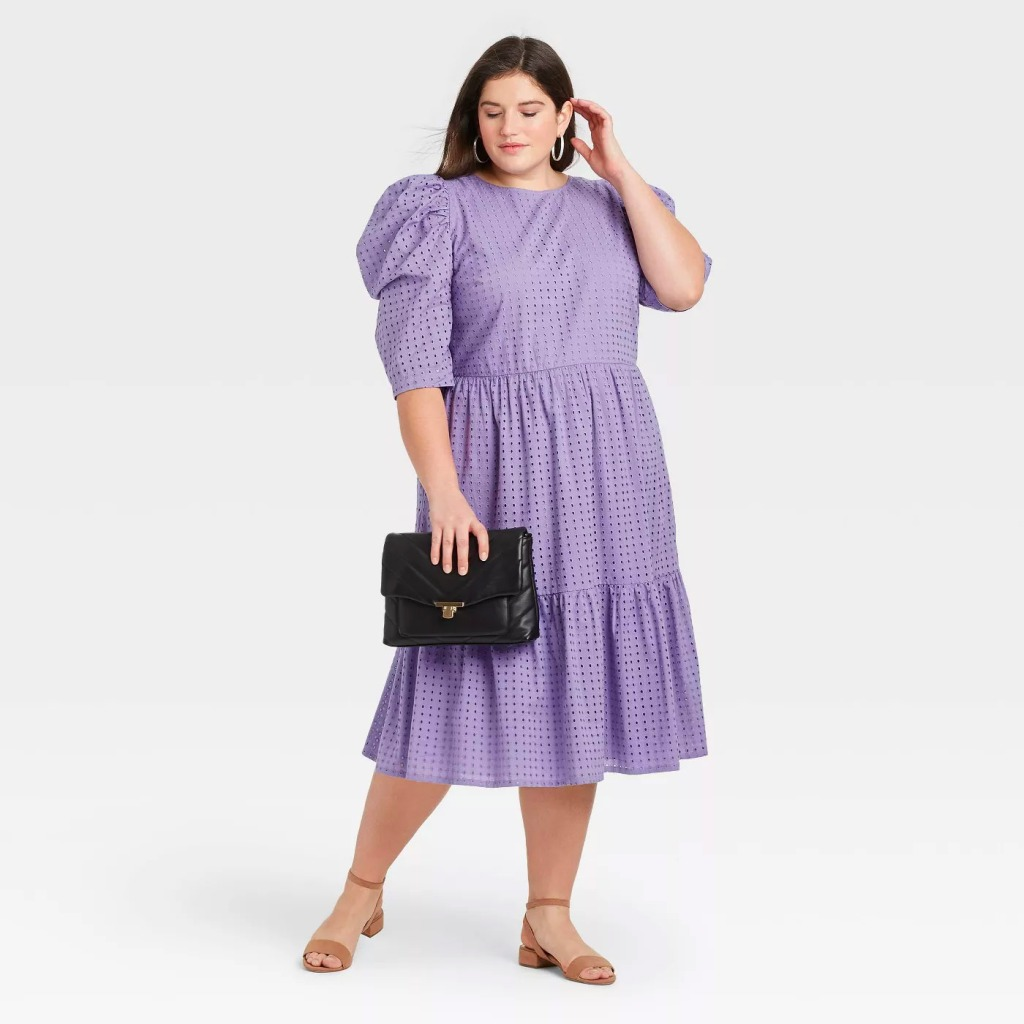 Target A New Day Elbow Sleeve Eyelet Dress
