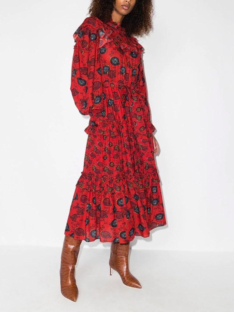 Ulla Johnson Winnifred Floral Print Dress