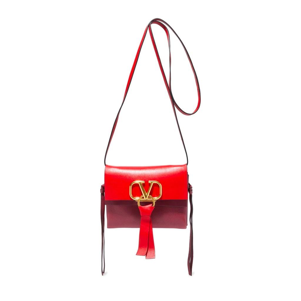 Valentino Garavani Red Leather Shoulder Bag