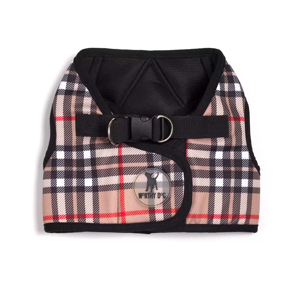 Worthy Dog Plaid Harness Vest