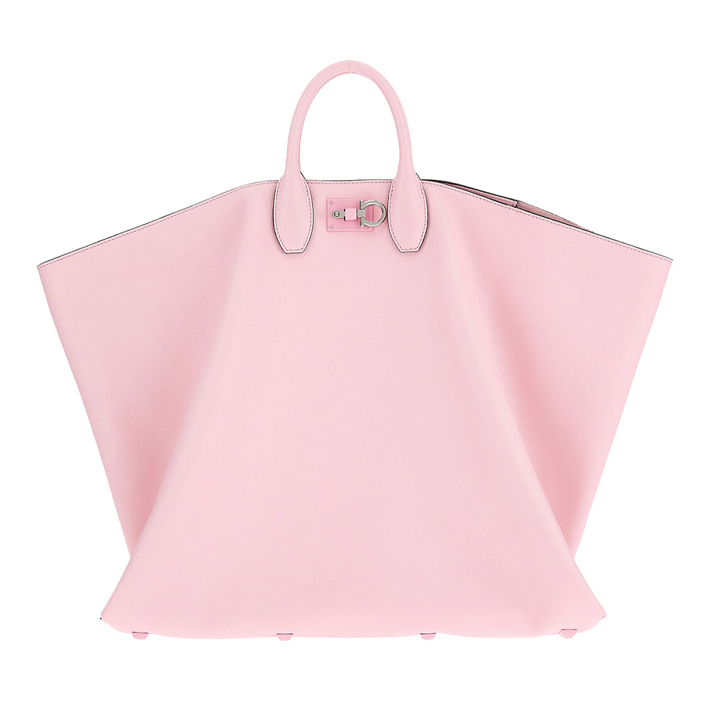 Salvatore Ferragamo Pink Studio Tote Bag