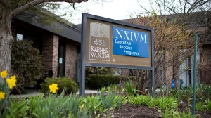 The NXIVM Executive Success Programs sign outside of the office Albany, New York.