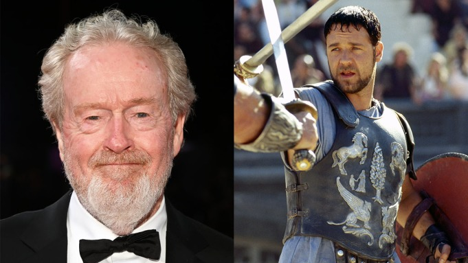 Ridley Scott; Russell Crowe in Gladiator