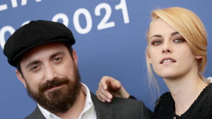 Director Pablo Larraín and Kristen Stewart
