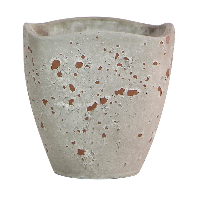 Allen + Roth Grey Ceramic Planter