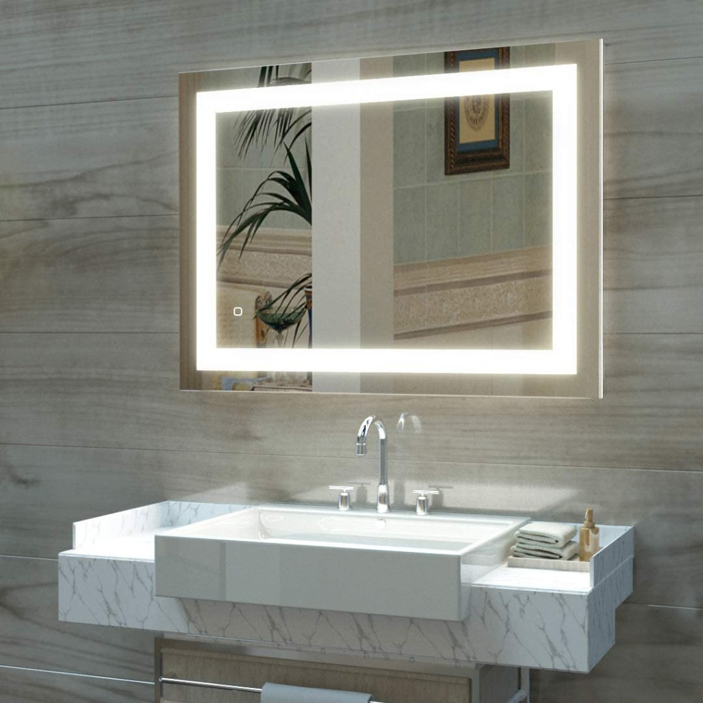 Hauschen Home 32x24-Inch LED Wall Mounted Makeup Mirror