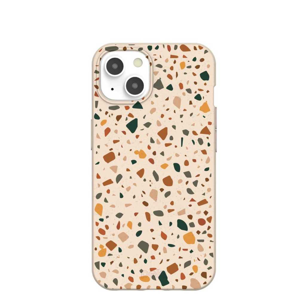 Pela Case Seashell Wild Terrazzo iPhone 13 Eco-Friendly Case