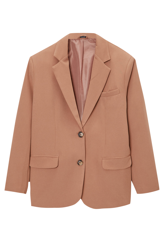 Nasty Gal x Maeve Reilly Oversized Pocket Single Breasted Suit Blazer
