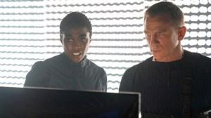 Daniel Craig and Lashana Lynch in 'No Time to Die.'