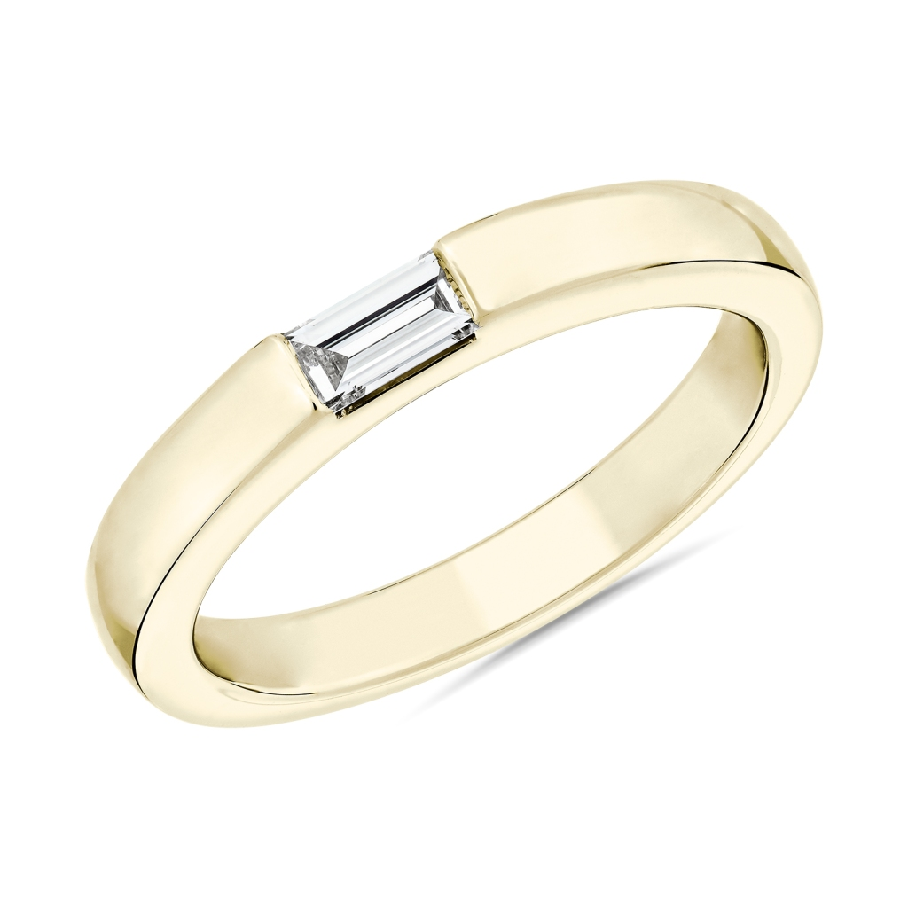 Zac Zac Posen East Wseet Single Baguette Diamond Ring