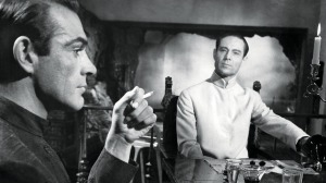Sean Connery and Joseph Wiseman in DR. NO, 1962.