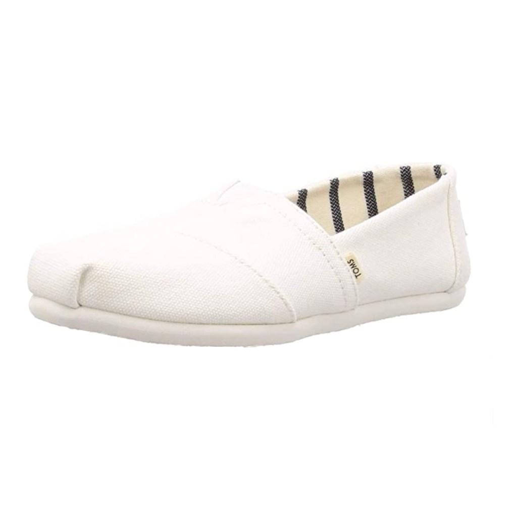 Toms Classic Alpargata White Canvas Slip-On Shoes