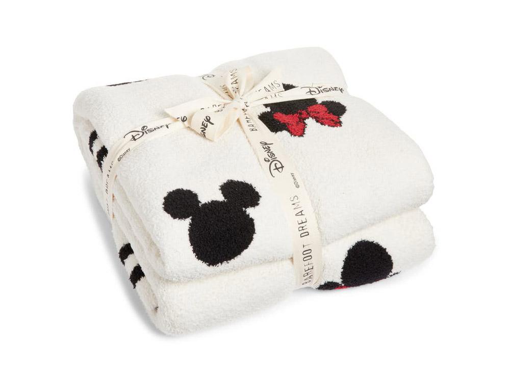Disney x Barefoot Dreams Minnie and Mickey Blanket