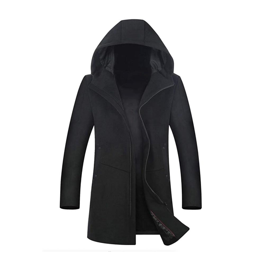 Etope Men's Black Wool Coat